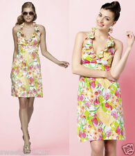 $178 Lilly Pulitzer Ramona Multi Floral Lilly Fields Forever Halter Dress 12