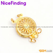 2 Strands Filigree Gold Plated Jewelry Making Design Findings Clasp gp0362