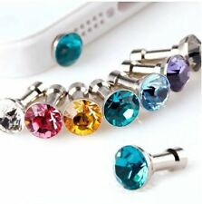 Diamond 3.5MM Anti Dust Plug Cap Stopper Cover for Cell Phones 2016 new
