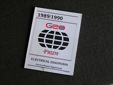 1989 1990 Geo Prizm Electrical Diagnosis Service Manual Supplement - Used