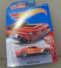 HOT WHEELS THEN AND NOW '68 SHELBY GT500 IN ORANGE PAINT 5/10