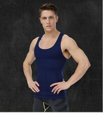 Mens Compression Muscle Tank Tight Shirt Slimming Gym Sleeveless Undershirt New