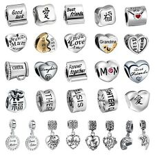 Special Character European Charm Bead Fit S925 Silver Necklace Bracelet Chains K