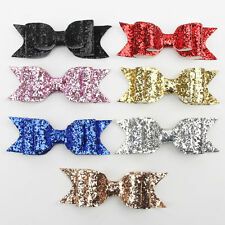Lovely Kids Children Girl Bow Hair Clips Hairpin Baby Sequin Bowknot Barrette