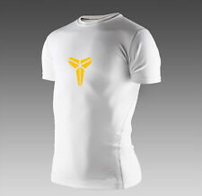 Mens Athletic Compression Short Sleeves Base Layer Under Skin Top Tights T Shirt