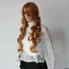 Women's Long Wavy Full Wigs Slight Wave Natural Hair Wig Cosplay Party Wigs SP