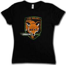 FOX HOUND GROUP LOGO LADIES GIRLIE SHIRT - Metal Game Gear MGS Snake Eater Solid