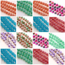 Wholesale 25/50Pcs Round Painted Chic Czech Glass Loose Spacers Charm Beads 8MM