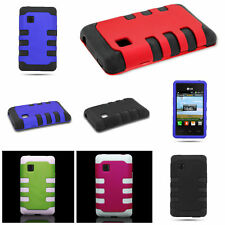 Brand New Tough Hybrid TPU + Hard Snap On Front Back Cover Case for LG 840G