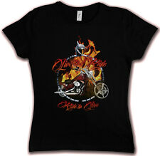 LIVE TO RIDE to Live HC HATE COUTURE GIRLIE T SHIRT Tattoo Biker Chopper SOA FTW