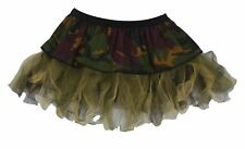 """Ladies 12"""" Camouflage Soldier Cyber Tutu Skirt Army Girl Fancy Dress"""