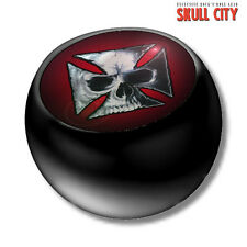 Skull IRON CROSS BLACK PIERCING BALL - Screw ball - ball Jewelry Skull