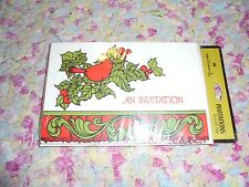 Vintage hallmark invitations new old stock NOS scroll bird leaves new