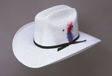 New! Western White Hill Country Straw Cowboy Hat (Adult S/M L/XL & Kids)