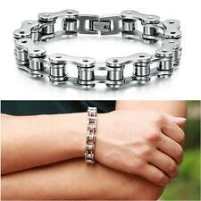 Punk Stainless Steel Bracelet Men Biker Bicycle Motorcycle Chain Bracelet Bangle