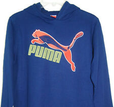"Puma Kids ""Classic Logo"" Blue Long Sleeve Thermal Shirt w/Hood - NWT!"