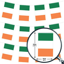 IRISH BUNTING 33FT COUNTRY NATIONAL FLAG PARTY DECORATION PVC ALL WEATHER 10M