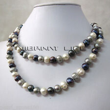 """34"""" 7-9mm Multi Color FreshWater Pearl Necklace M5 Fashion Jewelry"""