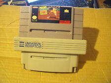 AMAZING TENNIS SUPER NINTENDO SNE USA GAME + AD-29 UNIVERSAL ADAPTOR GOOD CON