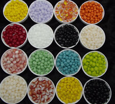 "1/4"" 6-7mm Glass LITTLE RIVER ROCKS Spectrum System 96 COE Pebbles Polka Dots"
