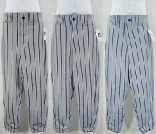Baseball Pants Belt Loop Waist Ankle Length Pocket Pinstripes Youth Boys Russell