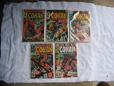 Conan the Barbarian #62,66,78,101,107 ( Marvel)