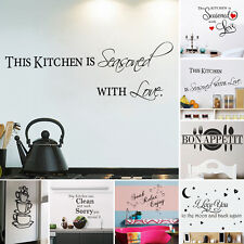 DIY Removable Words Art Vinyl Quote Mural Decal Room Decor Home Wall Sticker TY
