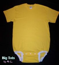 Adult Baby WEAR2WORK yellow OneSuit Bodysuit *Big Tots by MsL* o