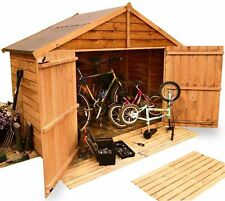 BillyOh Wooden Overlap Apex Garden Bike Mower Store Shed - Choice of Sizes