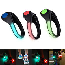 New Bike Cycling Sports Running Shoes Safety Night Bicycle Signal LED Light Clip