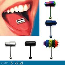 Multi Color Stainless Steel Vibrating Tongue Bar Ring Stud Jewelry Body Piercing