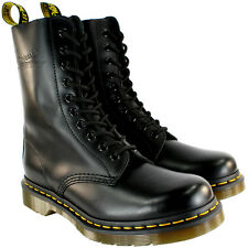 Mens Dr Martens Classic 1490 Black Vintage Leather Lace Up Boots US Sizes 8-13