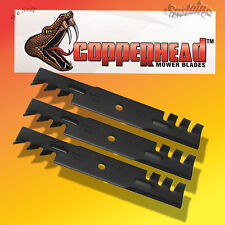 """3 Copperhead Commercial Mulching Blades For 52"""" Cut Mower, Tractor Rotary 6294"""