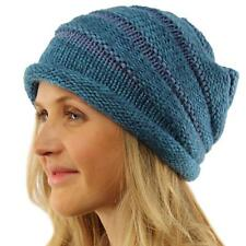 Unisex Chunky Ribbed Slouch Stretch Knit Winter Beanie Snow Ski Hat Cap