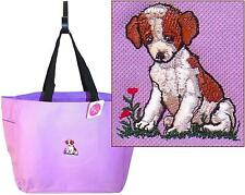 Puppy Dog Monogram Tote Bag Custom Embroidered 16 Colors to Choose From!