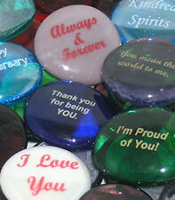 Colored Glass Imprinted Love Stones