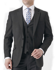 New Fashion Brook Taverner Avalino Suit Jacket in Charcoal Pinstripe BNWT
