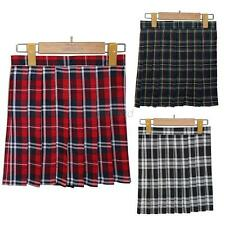 Vogue School Girls Students Plaid Uniform Skirt Summer Cosplay Mini Slim Skirt