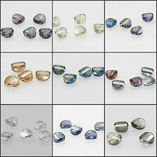 15mm Faceted cutting Glass Crystal round flat Irregular Loose Spacer Beads