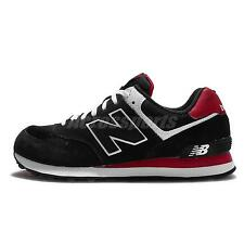 New Balance ML574CPA D Black Red White Mens Suede Running Shoes ML574CPAD