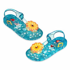 "Disney Store Anna and Elsa - Frozen ""Sole Sisters"" Jelly Sandals for Girls"