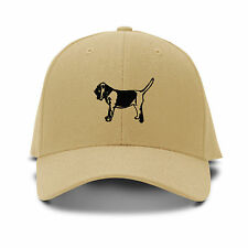 Bloodhound Dog Silhouette Embroidery Embroidered Adjustable Hat Baseball Cap