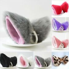 2016 HOT Cosplay Party Cat Fox Long Fur Ears Anime Neko Hair Clip Orecchiette US