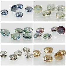 14x14mm/5pcs Faceted Round Glass Crystal Loose Spacer Teardrop Charm Beads