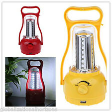 Portable Solar LED Light Camping Lantern Hiking Outdoor Table Lamp Phone Charger