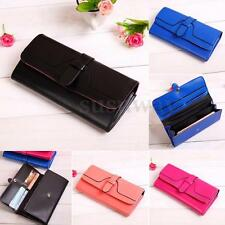 Ladies Womens Leather Long Wallet Coin Card Holder Clutch Purse Handbag Bag Case