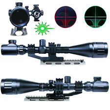 New Style Gun 6-24X50 AOEG Rifle Scope illuminated Reticle w/ Green Laser Sight