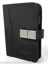 "Buxton Black Buckle Day Planner Calenday Calulator 8"" x 5"" Good Cond"