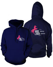 PERSONALISED HORSEY HOODIE Rider's Name & Horse Adults Equestrian Show Dressage