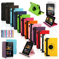360 Rotating PU Leather Case Stand Cover For 2013 Amazon Kindle Fire HDX 7 7.0""